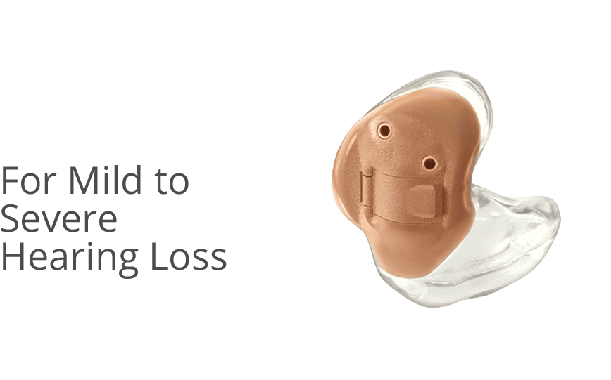 In the Ear (ITE) hearing aids - For Mild to Severe Hearing Loss